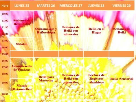 Agenda Semanal del 25 al 31 de agosto