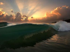 Wave Breaking, Oahu Photograph by Freddy Booth